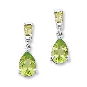 Kay peridot earrings 14k white gold