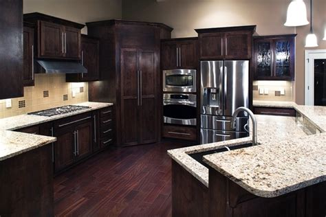 dark cabinets light countertops kitchen dark cabinets and light countertops really like