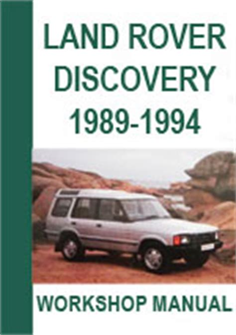 free auto repair manuals 1994 land rover discovery regenerative braking land rover discovery 1989 1994 workshop repair manual