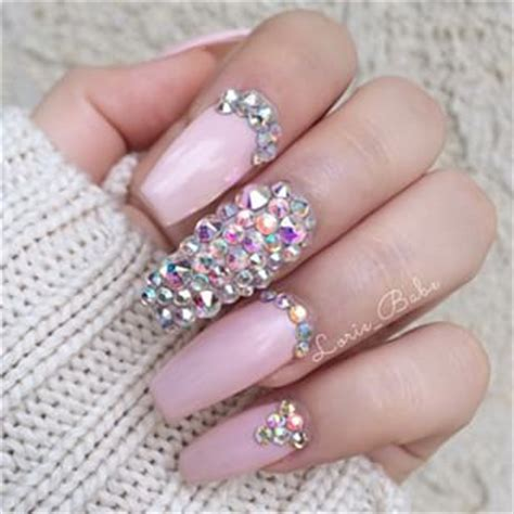 3d Wedding Nails W Swarovski Kuku Palsu Nail Wd0048a swarovski available at polished nail salon polishednailsok nails 3d charms