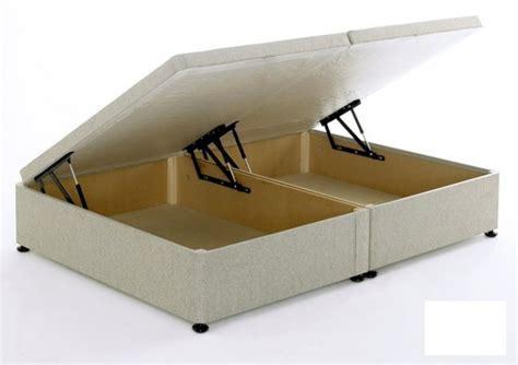beige ottoman bed regent beige 4ft small ottoman storage divan bed