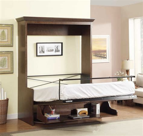 queen murphy bed 2 399 99 natanielle queen murphy bed with desk walnut