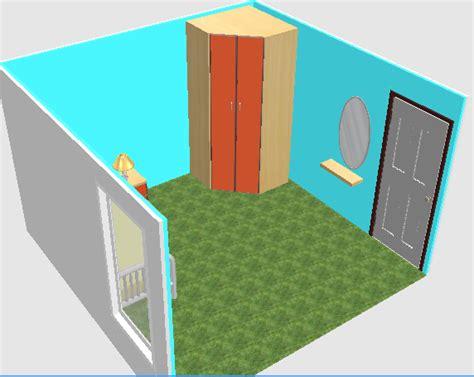 Cermin Besar Untuk Tembok desain kamar sempit terlihat lapang dan minimalis furniture mebel