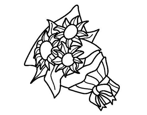disegni di mazzi di fiori disegno di mazzo di girasoli da colorare acolore