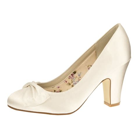 Schuhe Satin Ivory by Quot Dinah Ivory Satin Quot Vintage Brautschuhe Rainbow Club