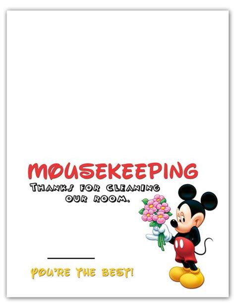 printable housekeeping tip envelopes mousekeeping tip holder a great way to make your