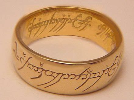 Replika Cincin Lord Of The Ring The One Ring jual cincin perak replika lord of the ring production