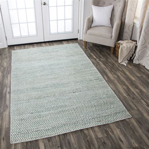 Zig Zag Runner Rug Ellington Zig Zag Pattern Wool Runner Rug In Turquoise White 2 6 Quot X 8