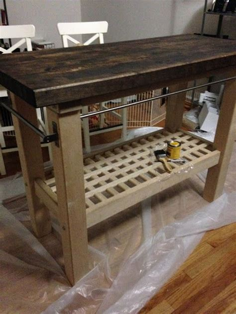 ikea groland kitchen island how to stain and finish a rustic kitchen island ikea