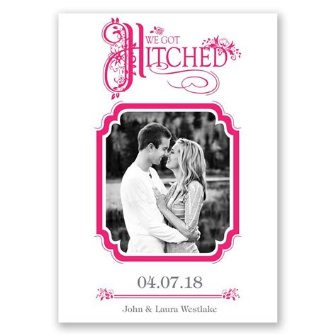 Wedding Announcements by Hitched Wedding Announcement Invitations By