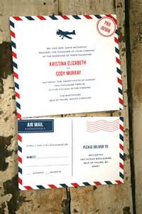mail wedding invitations air mail wedding invitations favors and more emmaline