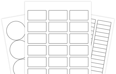 Blank Label Template For Word