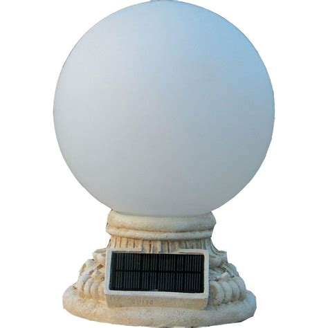 Outdoor Light Globes Homebrite Solar 9 Light Solar White Outdoor Led Globe Entry Light With Frosted Glass 30855 The