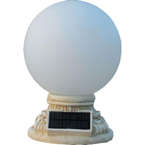 HomeBrite Solar 9 Light Solar White Outdoor LED Globe