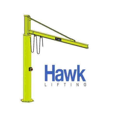 swing crane swing jib cranes manufactured by hawk lifting