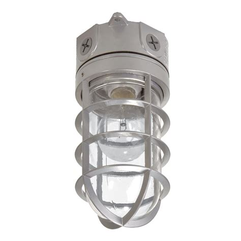 Halo Outdoor Lighting Halo 100 Watt Gray Outdoor Vapor Tight Incandescent Area Flood Light Vt100gh The Home Depot
