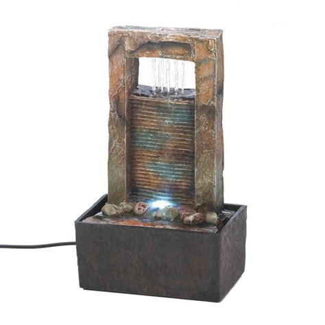 new cascading table top water fountain water feature home