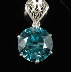 antiques atlas deco blue zircon pendant chain necklace