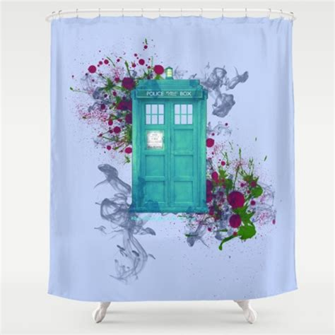tardis shower curtain tardis shower curtain doctor who gifts