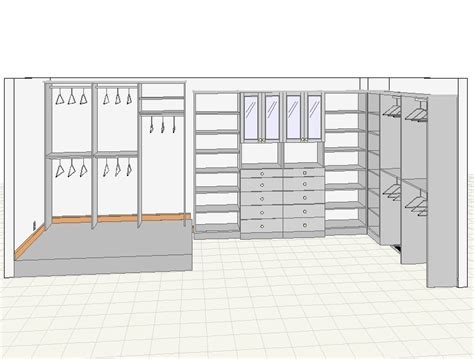 Master Bedroom Drawing Closets For 3d Closet Drawings So Real You Might Try