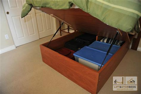 Building A Bed Frame With Storage Diy King Platform Bed With Storage Furnitureplans