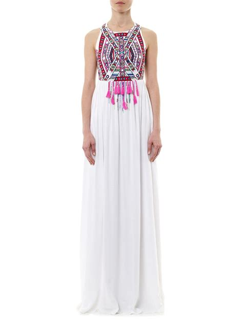 Maxi Soft Pink Maxmara Dress Muslim Elegan mara hoffman embroidered maxi dress in white lyst