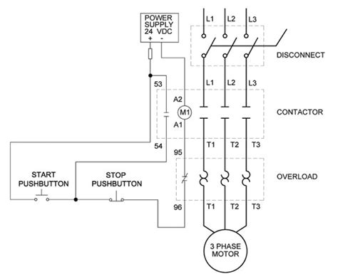 3 wire stop start wiring diagram agnitum me how to wire a motor starter library automationdirect in 3 phase start stop wiring diagram