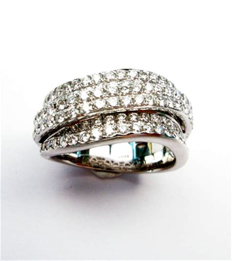 gioielleria mario roggero 187 anello a fascia in oro bianco