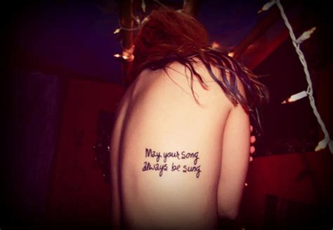 tattooed heart songwriter 22 cool song lyric tattoos