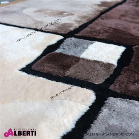tappeti di pelle tappeto di pelle di pecora rasatacon disegno 240x170 cm