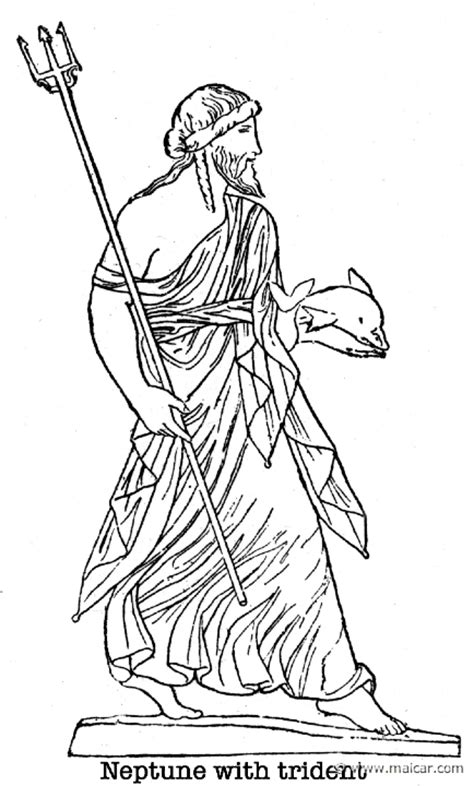 free greek god poseidon coloring pages