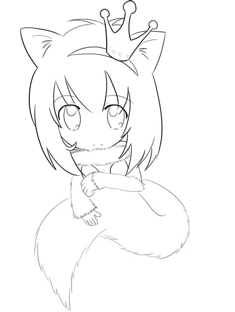chibi fox coloring page 13 images of anime girl chibi fox coloring pages cute