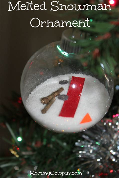melted snowman christmas ornament with dixie crystals