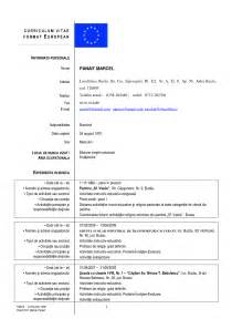 cv template romana 4 best images of european curriculum vitae format