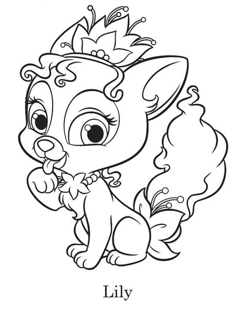 coloring pages princess pets palace pets coloring pages