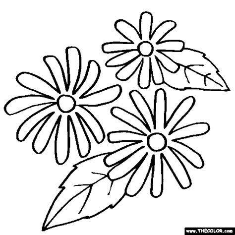 black and white coloring pages of flowers flower coloring pages color flowers online page 1