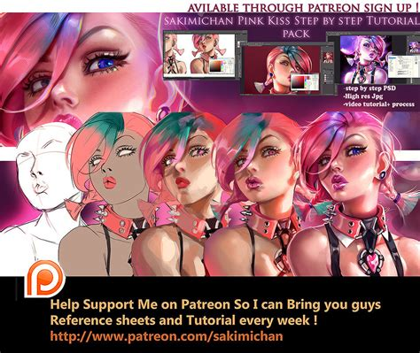 kiss tutorial video download pink kiss girl tutorial pack by sakimichan on deviantart