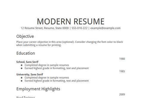 resume objective statement like success