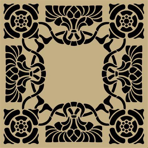 printable art nouveau designs download art nouveau stencil pattern vector free