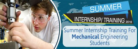 Summer Internship For Mba Students In Delhi by Summer Internship Mechanical Engineering Students