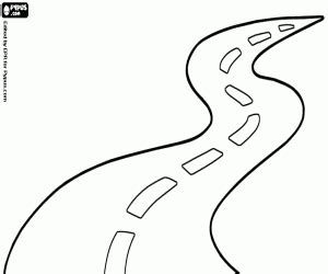 Travelling By Road Coloring Pages Printable Games Road Coloring Pages