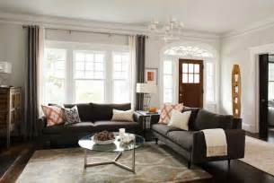 Old Homes With Modern Interiors charcoal gray sofas contemporary living room terracotta properties
