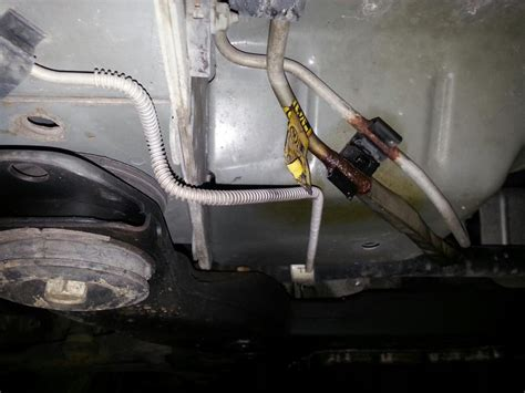 2006 Buick Rendezvous Gas Line Rusted Expanded Ruptured