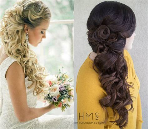 choice of half up and half wedding hairstyles - Wedding Hairstyles Half Up Half And To The Side