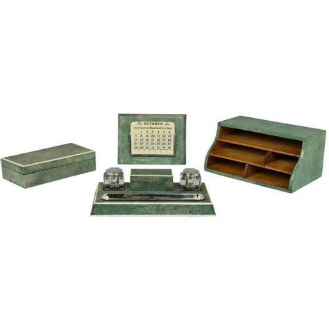 Art Deco Shagreen Desk Set At 1stdibs Deco Desk Accessories