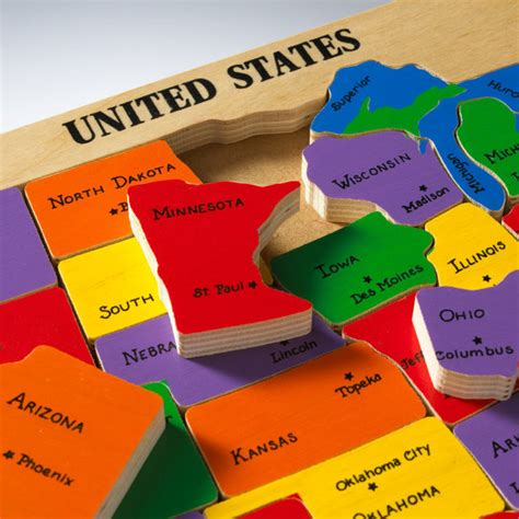 united states map puzzle states and capitals us map puzzle state capitals learning states and capitals