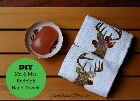 cricut christmas gift ideas handmade hostess gift idea mr and mrs rudolph towels sew creative blogsew