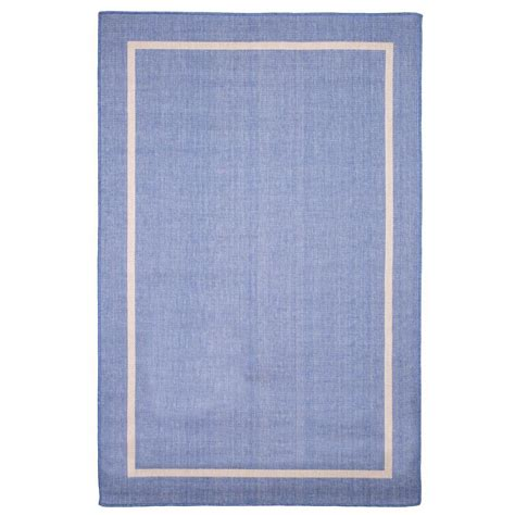 Indoor Outdoor Rugs Home Depot Border Blue 5 Ft X 7 Ft 7 In Indoor Outdoor Area Rug 62 4328 B The Home Depot