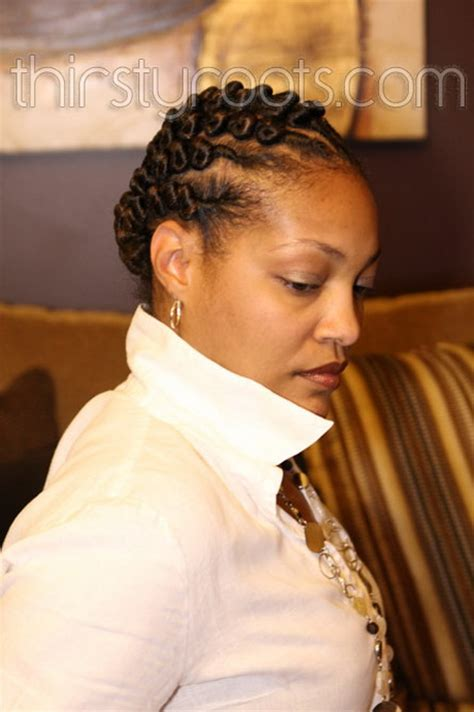 twisted bun hairstyle on african american twist hairstyles for black girls