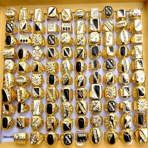 Simply Plain Knuckle Ring Set 3pcs Gold 2015 fashion mens gold rings white black enamel